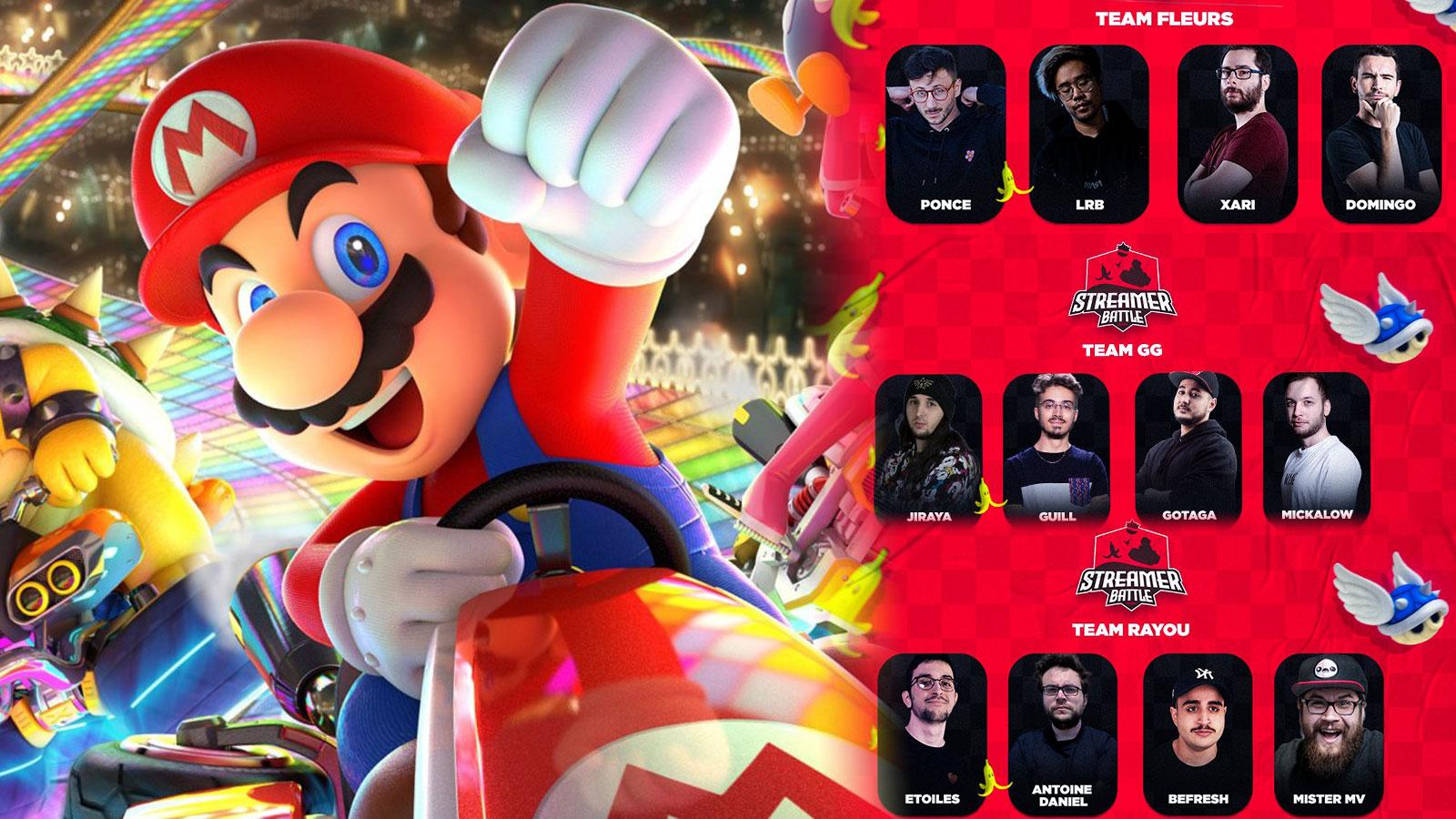 Des streamers se sont livrés à une compétition d'exception sur Mario Kart 8 pour la Streambattle