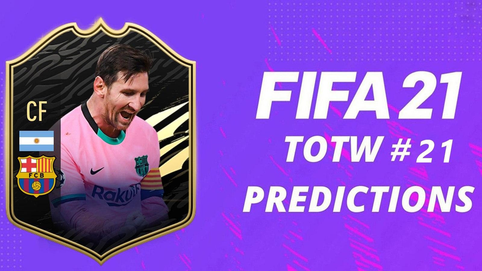 Prédictions TOTW 21 FIFA 21