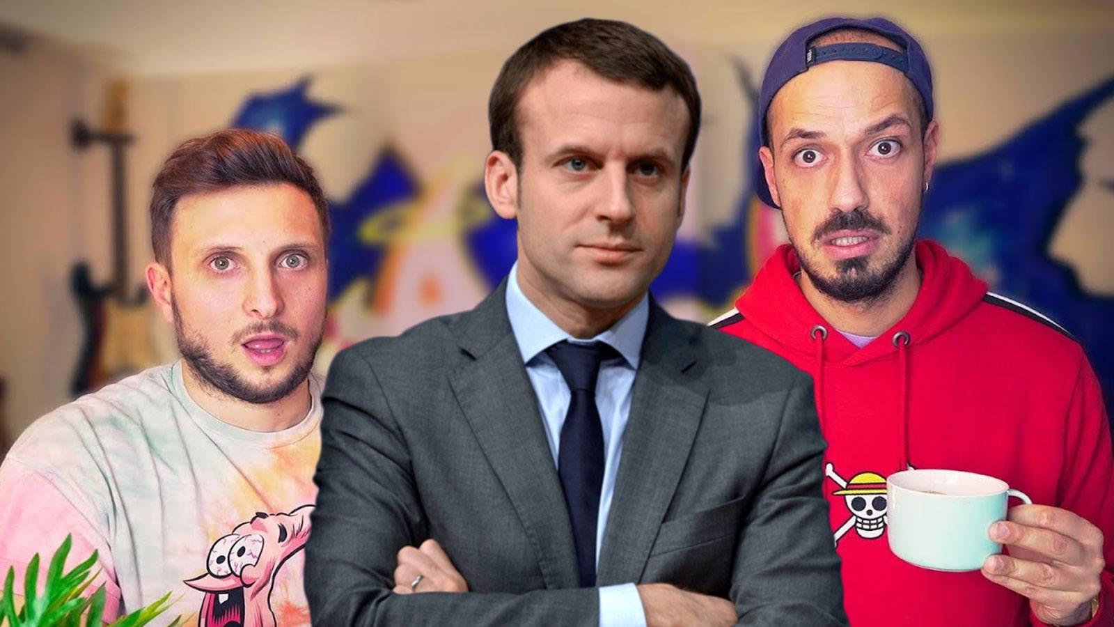 Macron défie McFly et Carlito