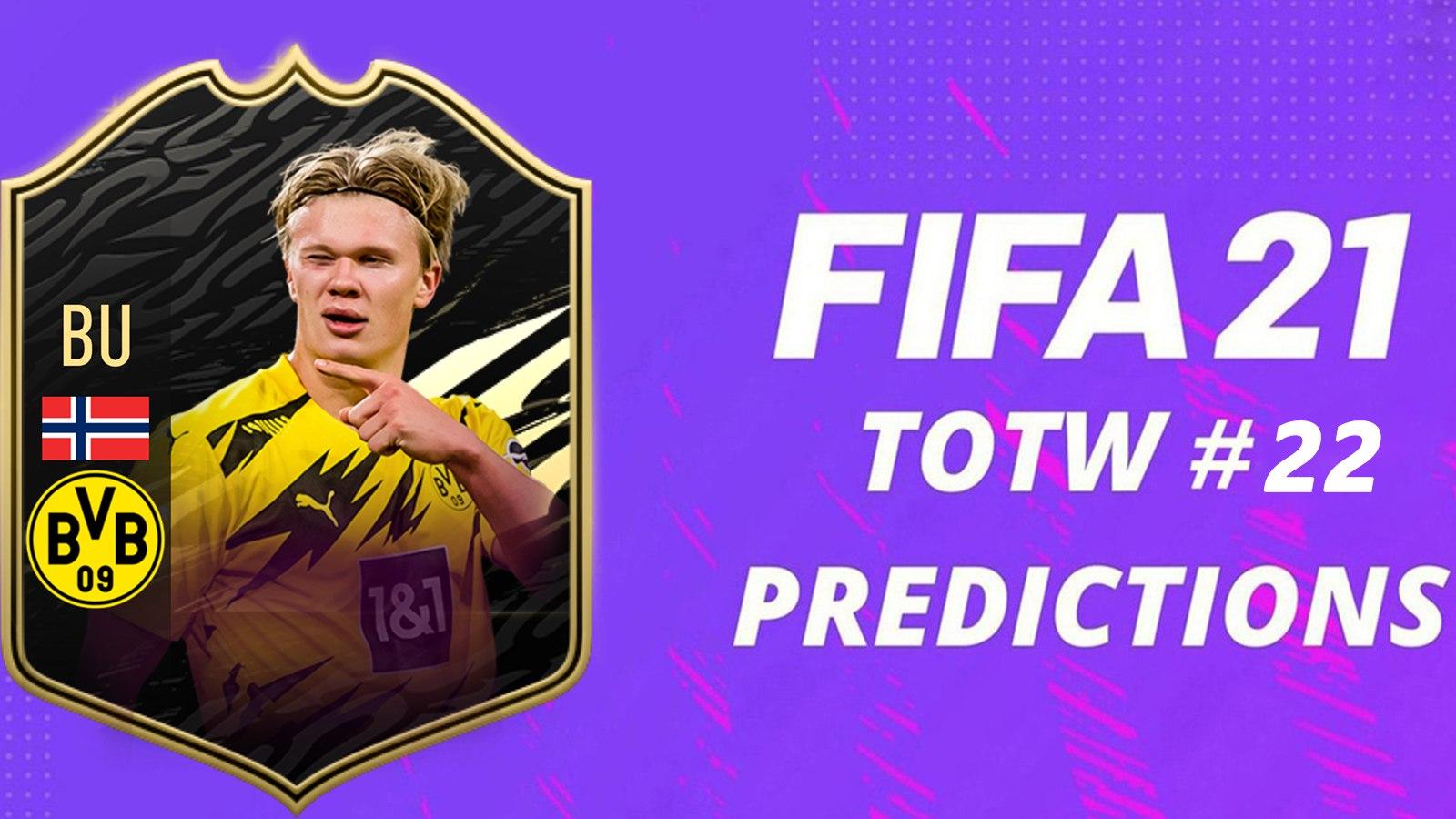 TOTW Prédictions 22 FIFA 21