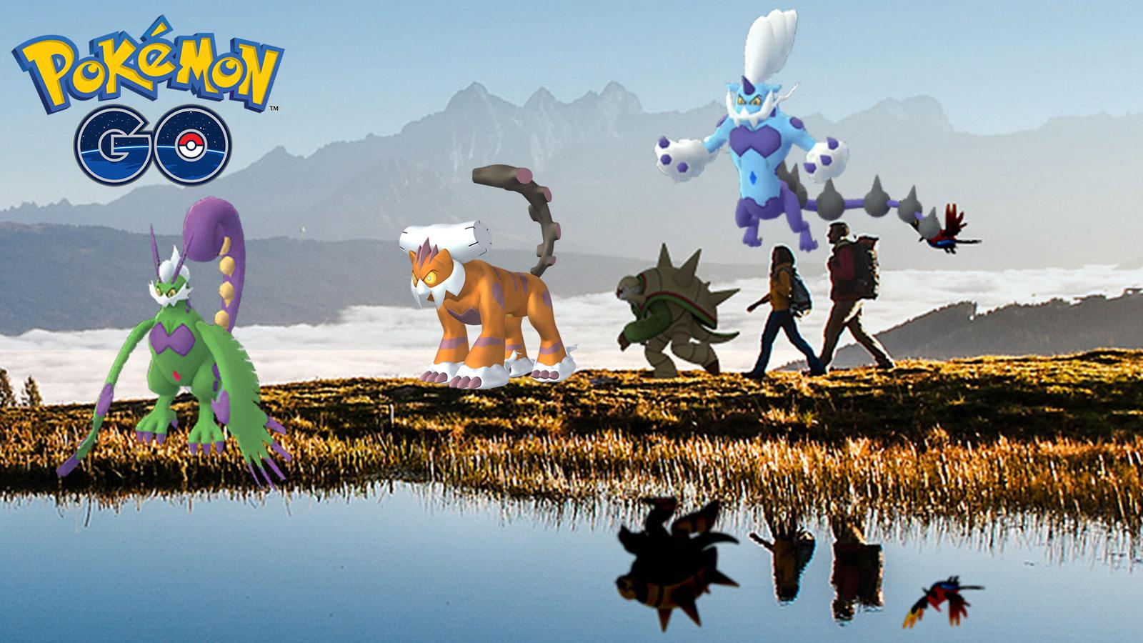 Pokémon Go forme totémique tornadus, thundurus,Landorus