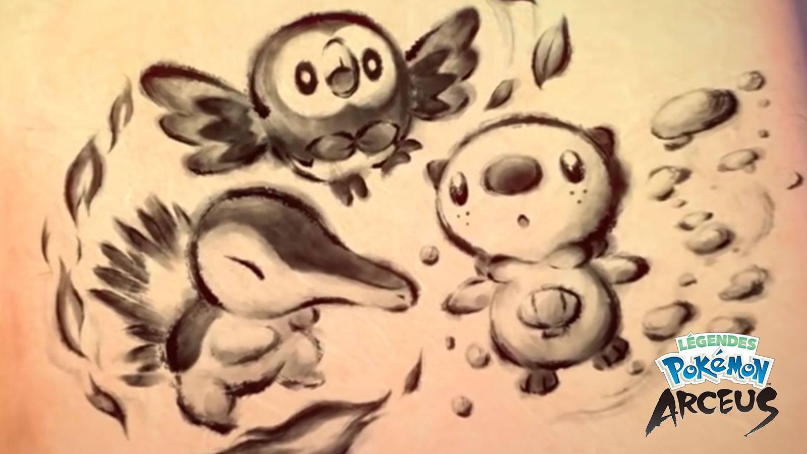 Starters de Légendes Pokémon Arceus