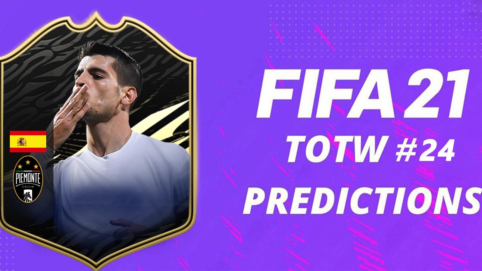 Prédictions TOTW 24 FIFA 21
