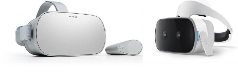L'Oculus Go et le Lenovo Mirage