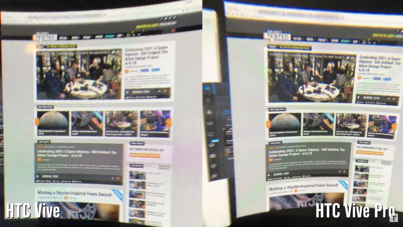 Comparatif en image entre le HTC Vive et HTC Vive Pro - 6