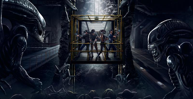 Une nouvelle attraction permet à 4 joueurs d'affronter des Aliens en réalité virtuelle ! - 2