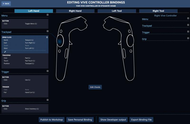 Valve lance SteamVR Input, un système permettant de remapper tous les boutons en VR - 4