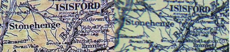 """À gauche, l'écran de 18,1MP de LG, capturé par un iPhone 8 à travers une lentille. A droite, un affichage VR """"conventionnel""""."""