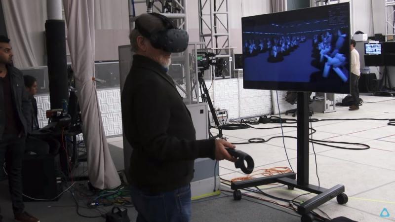 Spielberg dans un Vive pour la conception de Ready Player One - 2