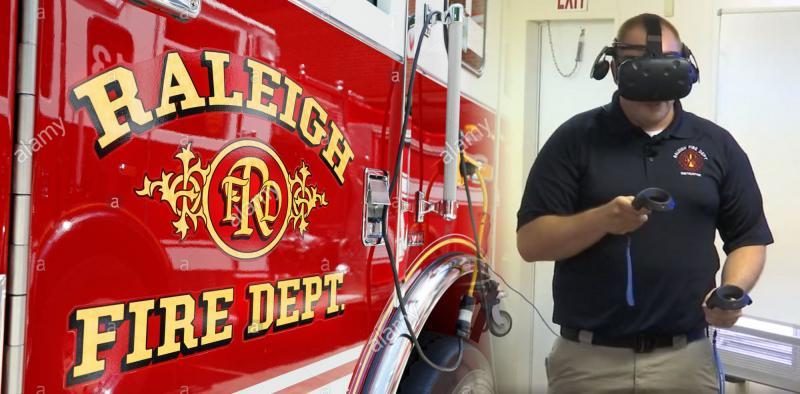 Les sapeurs-pompiers de Raleigh utilisent la réalité virtuelle pour se former - 2