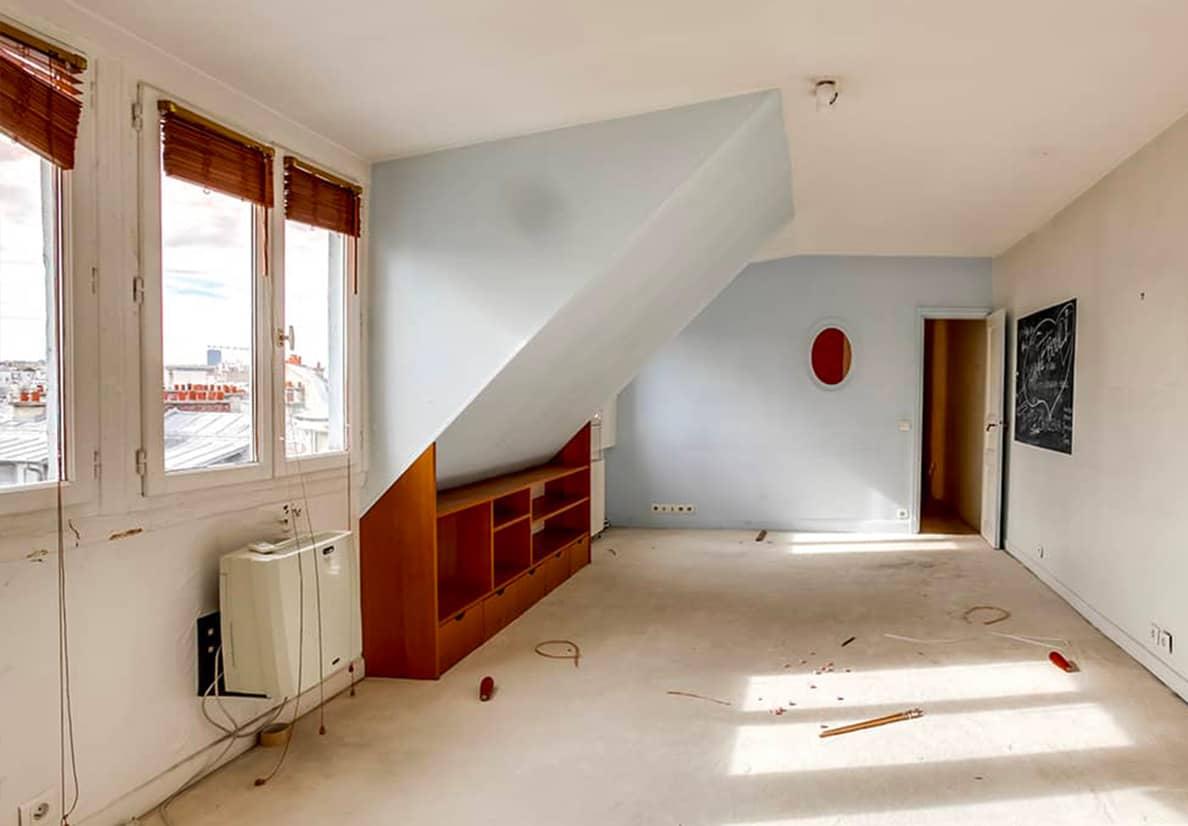 Chambre avant travaux de rénovation