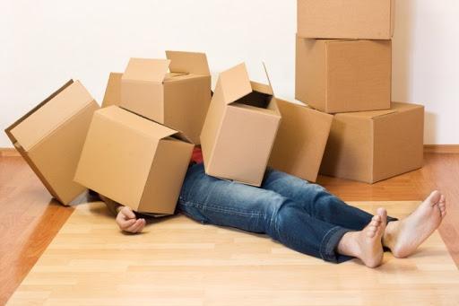 Déménagement, trop de cartons
