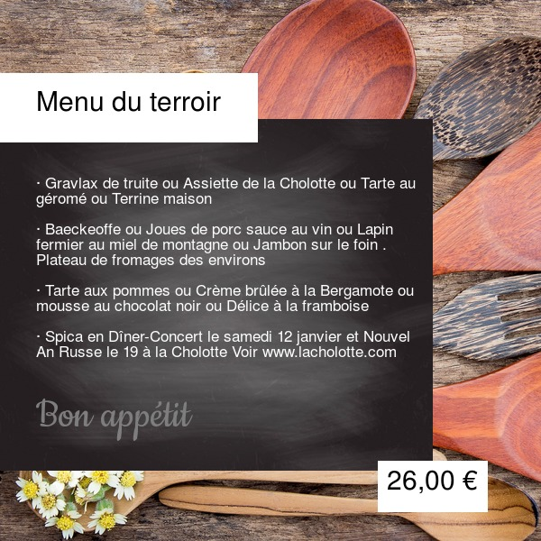 Menu du terroir