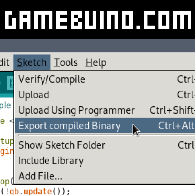 Export Games and make Icon & Titlescreen - Gamebuino