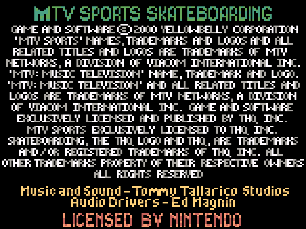 https://s3.eu-west-3.amazonaws.com/games.anthony-dessalles.com/MTV Sports Skateboarding featuring Andy MacDonald GBC 2020 - Screenshots/MTV Sports Skateboarding featuring Andy MacDonald-201115-140619.png