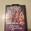 SHINING IN THE DARKNESS SEGA GENESIS MEGADRIVE