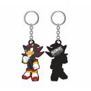 Sonic - The Hedgehog Llavero caucho Shadow