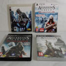 Pack de 4 juegos Assasin's Creed para Ps3