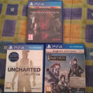 pack juegos ps4 (trilogia de uncharted, valkyria chronicles, metal gear solid V