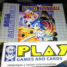 INSTRUCTION MANUAL BOOKLET MANUAL DE INSTRUCCIONES PAL SONIC SPINBALL GAME GEAR