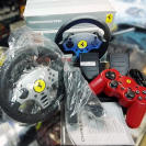 THRUSTMASTER FERRARI CHALLENGE RACING WHEEL+GAMEPAD PLAYSTATION PS2 PS1 VOLANTE