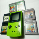 Lote Game Boy Color + 5 juegos y 1 multijuego.