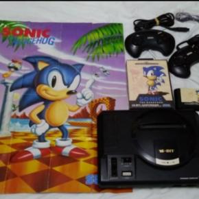 Sega Megadrive - Sonic + Poster