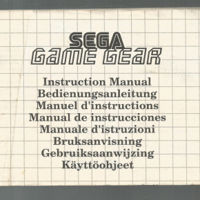 Manual Game Gear*