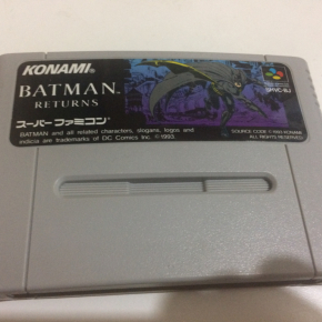 JUEGO BATMAN RETURNS SUPER FAMICOM JAPONESA SUPERNES