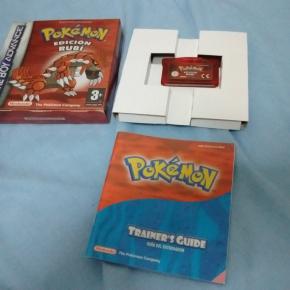 Pokemon edición rubí caja cartón edición española completo game boy advance