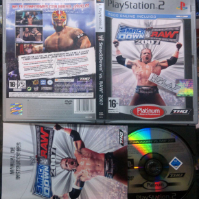 WWE SMACKDOWN VS RAW 2007 PAL ESPAÑA COMPLETO SONY PLAYSTATION 2 PS2 ENVIO 24H