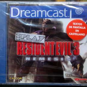 RESIDENT EVIL 3 NEMESIS NUEVO SELLADO PAL ESPAÑA DREAMCAST DC NEW FACTORY SEALED