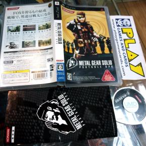 METAL GEAR SOLID MGS PORTABLE OPS SONY PSP JAPONES JAPANESE VERSION KONAMI