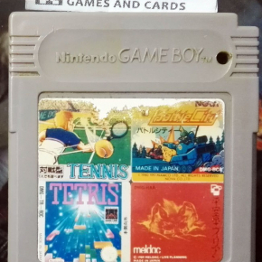 4 in 1 game TENNIS Battle City TETRIS Heiankyo Alien GAME BOY GAMEBOY GB CLASSIC