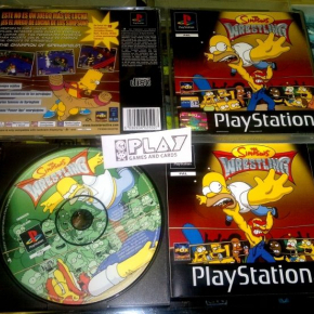 THE SIMPSONS WRESTLING PAL ESPAÑA PSONE PS1 PLAYSTATION PSX SIMPSON LUCHA LIBRE