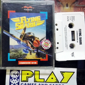 FLYING SHARK FIREBIRD DRO SOFT TAITO VERSION ESPAÑOLA COMMODORE 64 BUEN ESTADO