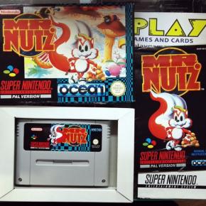 MR. NUTZ PAL ESPAÑA MUY BUEN ESTADO COMPLETO SUPER NES NINTENDO SNES ENVIO 24H