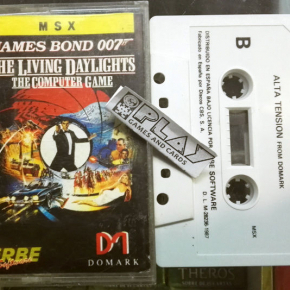 JAMES BOND ALTA TENSION LIVING DAYLIGHTS CINTA CASSETTE PAL ESPAÑA MSX ENVIO 24H