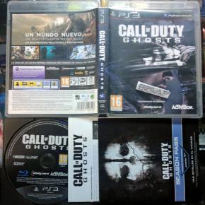CALL OF DUTY GHOSTS  PAL ESPAÑA COMPLETO PS3 PLAYSTATION 3 ENVIO CERTIFICADO/24H
