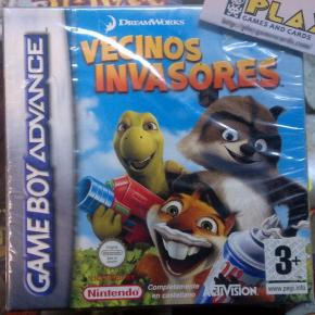 VECINOS INVASORES PAL ESPAÑA NUEVO NEW OVER THE HEDGE GBA GAME BOY ADVANCE