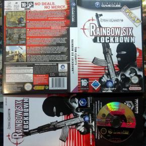 TOM CLANCY'S RAINBOW SIX LOCKDOWN PAL ESPAÑA COMPLETO GAME CUBE GAMECUBE GC