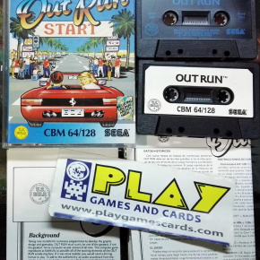 OUT RUN OUTRUN SEGA US GOLD COMMODORE 64  BUEN ESTADO