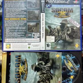 SOCOM US U.S. NAVY SEALS PAL ESPAÑA COMO NUEVO PS2 PLAYSTATION 2 ENVIO 24H