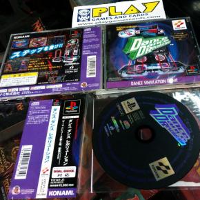 DANCE DANCE REVOLUTION PSX PLAYSTATION JAP SPINE CARD KONAMI JAPANESE DANCE