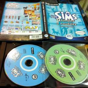 LOS SIMS ANIMALES A RAUDALES DISCO DE EXPANSION PC PAL ESPAÑA BUEN ESTADO EA