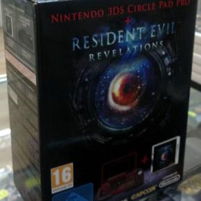 RESIDENT EVIL REVELATIONS + CIRCLE PAD PRO PAL ESPAÑA MINT NINTENDO 3DS N3DS