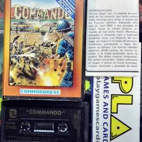 COMMANDO ZAFIRO ZAFI CHIP ELITE SOFTWARE COMMODORE 64 1985 ESPAÑA BUEN ESTADO