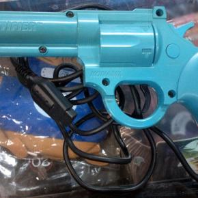 LETHAL ENFORCERS BLUE AZUL THE JUSTIFIER GUN KONAMI MEGADRIVE MEGA DRIVE PISTOLA
