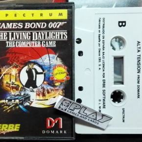 JAMES BOND 007 THE LIVING DAYLIGHTS ALTA TENSION ESPAÑA ERBE LOMO ROSA SPECTRUM
