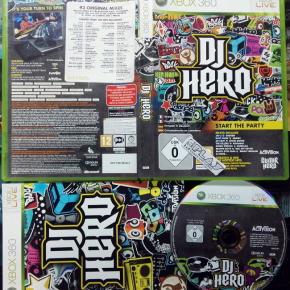 DJ HERO PAL CASTELLANO COMPLETO COMO NUEVO MICROSOFT XBOX 360 ENVIO CERTIFICADO